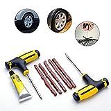 xiangyao32 Reifen-Reparatur-Tools, Reparatur-Patch Automotive Tubeless Vacuum Kit für Auto LKW Motorrad Auto Professional Zubehör