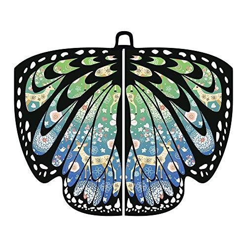 ZEELIY Frau Weihnachten Halloween-Parade- Schmetterlingsflügel Schal Schal Poncho Kleid Zubehör