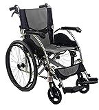 KosmoCare Elegant Breeze Premium Imported Ultra Lightweight Wheelchair With Seat Belt-Grey