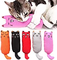 5 pieces of catnip toys, cat chew toys, cat bite toys, catnip toys, cartoon mouse and cat molar toys