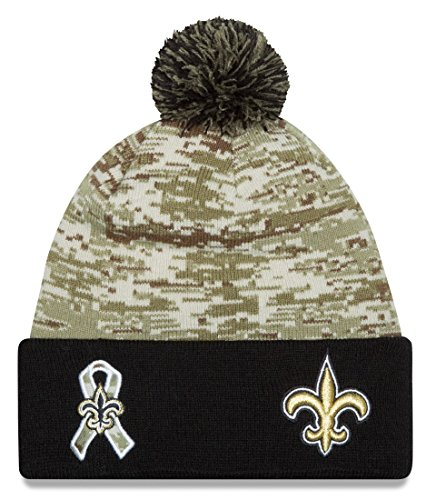 "New Orleans Saints New Era 2015 NFL Sideline ""Salute to Service"" Sport Knit Hat Hut - 2"