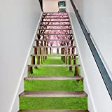 SISANLAI Home Stair-Step Mode kreativ Dekorative Wandhalterung Cherry Tree View Street, und 100 X 18 Cmx 6 Chip