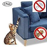 Chat Chien Griffe gardes Transparent 2 pcs en vinyle pour chat avec des tampons auto-adhésifs ,protéger les tissus d'ameublement, les murs, les Matelas, siège auto, porte...