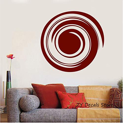 Lovemq 59 * 56 Cm Enso Kreis Wandtattoos Yoga Mediation Balance Decor Wand Vinyl Aufkleber Aufkleber Schlafzimmer Wohnzimmer Home Interior Ornament