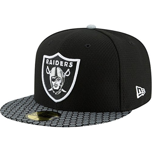 Brim Fitted Cap (New Era Herren Caps / Fitted Cap NFL On Field Oakland Raiders 59Fifty schwarz 7 7/8 - 62,5cm)