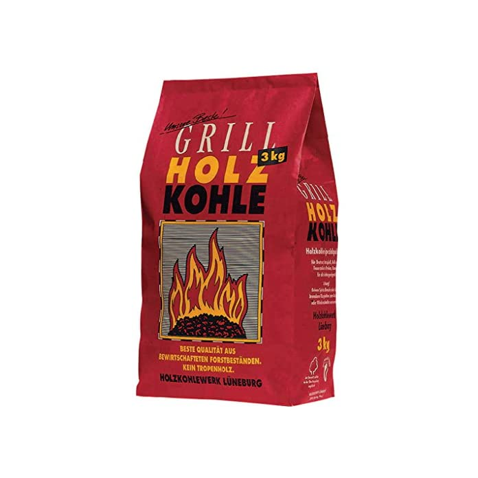 Feuer Flamme Grill Holzkohle 3kg