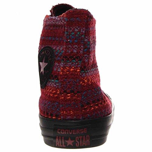 Converse - Chuck Taylor All Star Hi Textile Chaussures Femme Oxheart/Larkspur/Black