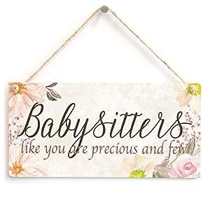 niñeras y cuidadores: niñeras como tú son preciosos y pocos–hermoso hecho a mano pequeño signo de re...