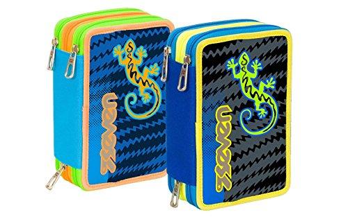 Seven - astuccio 3 zip completo gecko boy, 000