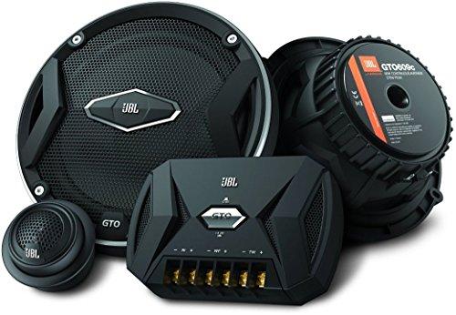 """JBL Car GTO 609C 6,5\"""" (165 mm) 270 Watt 2-Wege Auto-Hifi Komponenten-Lautsprechersystem Inkl. 1 Paar Mittelton-Lautsprecher, 1 Paar Hochtöner, 1 Paar Frequenzweichen sowie Abdeckungen - Schwarz"""