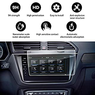 Designed for 2018 Volkswagen Tiguan/VW Tiguan II GTE Allspace Discover Pro 9.2-Inch trapezoidal display screen design - 9H tempered glass protective film - ultra clear light protection