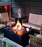 Mania Cocoon fuoco camino da tavolo Gas Stelle Quadrato Grande, Nero lunghezza 76cm