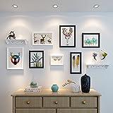 HJKY Photo Frame Wall Set Das Wohnzimmer Wand Gemälde schmücken das Sofa im nordischen Stil Gemälde gehangen werden, Kombination von amerikanischer Wandmalereien modernes, minimalistisches Restaurant Wandbilder, 25 mm dick, schwarz-weißen Brett + rack Kombinationen