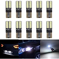 TOPWINRR 10PCS Bombillas LED Coche T10 W5W 194 Canbus Wedge Lampara Exterior Luces Laterales 12V