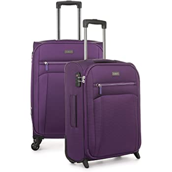 987517eba Antler Marcus Siro 2 Piece Suitcase Set Medium and Cabin Purple ...