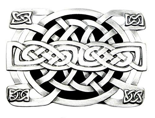 Celtic Knot Belt Buckle Rectangular Black White & Grey Authentic Bergamot Branded Product