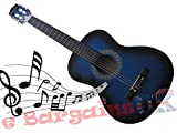 3/4 Size 36' Acoustic 6 String Guitar, Blu