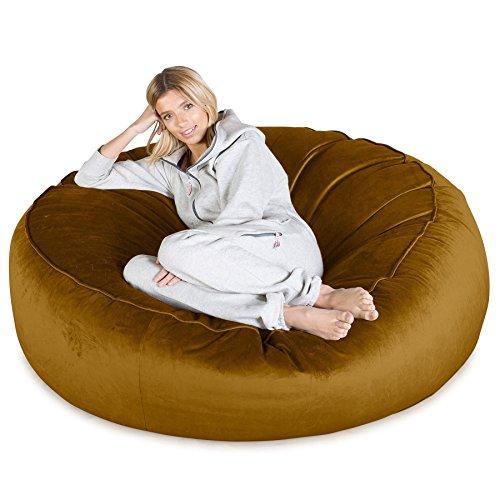 Lounge Pug®, Puff Gigante 'Mega-Mamut', Terciopelo - Oro