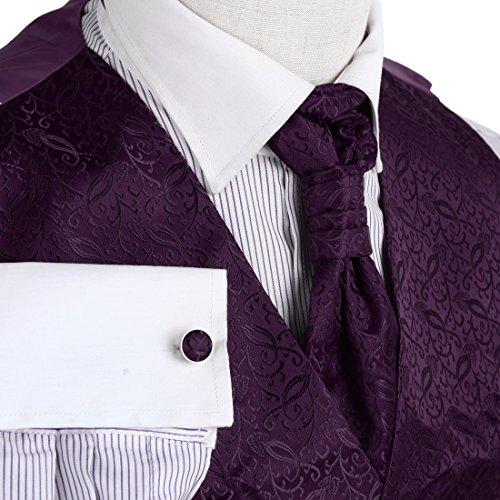 YGB1B02 Fashion Patterned Hochzeit Geschenk Westen Manschettenknopf Taschentuch ??Ascot Krawatte Von Y&G VS2008-Lisa