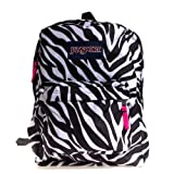 Jansport Superbreak, Mochila, Unisex Adulto, T501, Black/White/Fluorescent Pink, Talla única