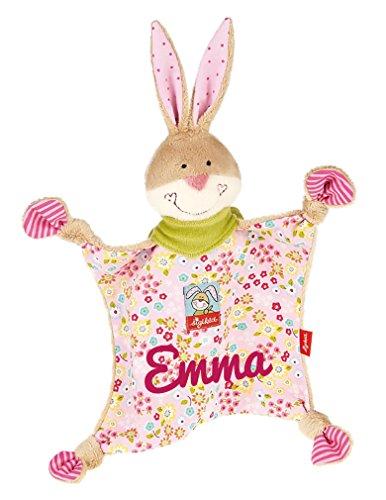 Sigikid 48933 Schmusetuch Bungee Bunny mit Namen bestickt (Bungee-baby)
