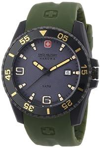 Reloj Swiss Military Hanowa 06-4200.27.009 de cuarzo para hombre, correa de plástico color verde de Swiss Military Hanowa