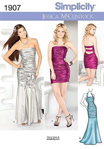 simplicity-1907d5-patrons-robes-de-miss-taille-36-38-40-4-6