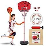 TILLMANN'S Canasta Baloncesto Infantil con Balón Y Bomba para Hinchar Incluida | Canasta Baloncesto Exterior
