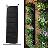 7-Pocket Hanging Plant Bag Vertical Garden Planter Indoor/Outdoor Pot Wall Decor