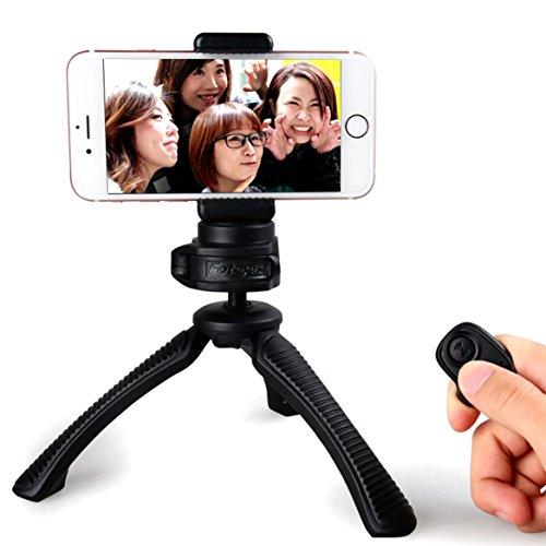 Fotopro Mini treppiede imposta con adattatore telefono, Bluetooth scatto remoto per la...