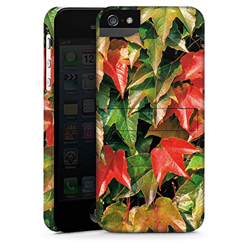 Apple iPhone X Silikon Hülle Case Schutzhülle Herbst Efeu Blätter Premium Case StandUp