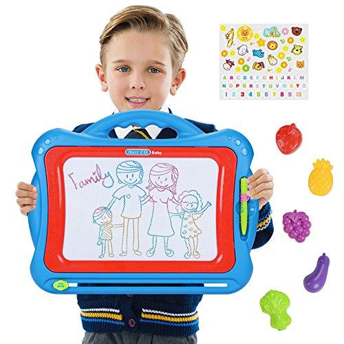 NextX Pizarra Magnética Mágica Grande - Juguete Educativo y Creativo de Color - Tablero de Dibujo Borrable - Regalo Perfecto de Navidad para Niños de 3 años o más
