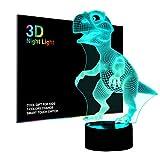 LED Nachtlicht Kinder, Baby Nachtleuchte Nachtlampe, 3D Dinosaurier Spielzeug für Jungen, Farben ändern Beleuchtung, Schlafzimmer Dekoration, Coole Geschenke Ideen für Geburtstag Weihnachten