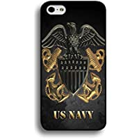 Iphone 6 / 6s ( 4.7 Inch ) Cool USN Navy Seals Logo Cover Shell Fashionable Golden Design U.S.Navy Seals Phone Case Unique Design Cover for Iphone 6 / 6s ( 4.7 Inch