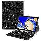 Fintie Blade X 1 Samsung Galaxy Tab S4 10.5 Bluetooth Tastatur Hülle - Ultradünn leicht Schutzhülle mit magnetisch abnehmbarer drahtloser deutscher Bluetooth Tastatur für Samsung Galaxy Tab S4 T830 / T835 (10.5 Zoll) Tablet-PC, Sternbild