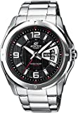 Casio 25056 - Reloj para hombres, correa de acero inoxidable color plateado