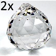 2x Palla Sfera di cristallo palla pendplo sun catcher 30mm