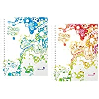 2 x Silvine Notebook-Quaderni a spirale, formato A5, 160 pagine, Surf & Pen
