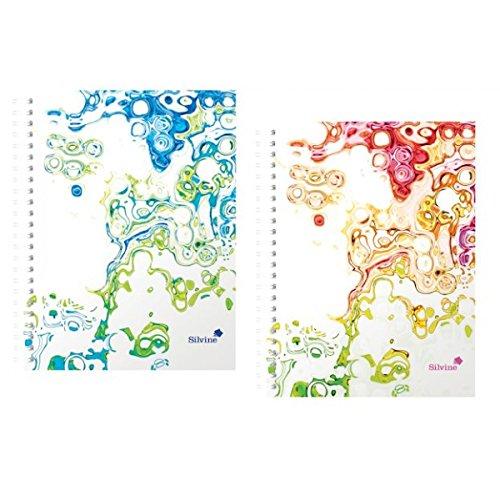 silvine-lot-de-2-cahiers-a-spirales-a5-160-pages-motif-surf-avec-stylo