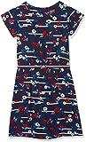 Tommy Hilfiger Mädchen Kleid Playful Flower Print Dress S/S, Schwarz (Black Iris 002), 110 (Herstellergröße: 5)