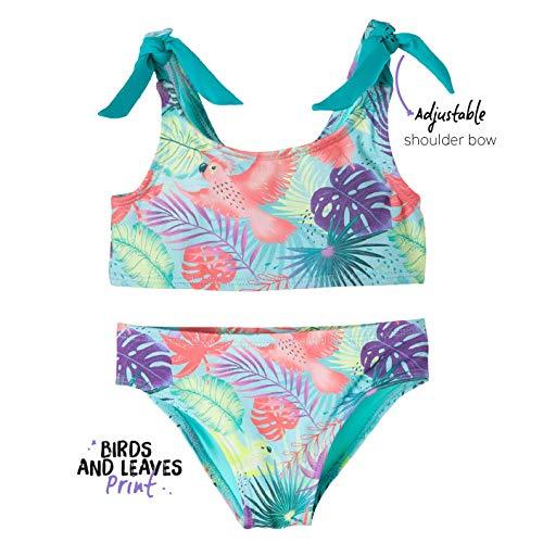 e537d6ae55 OFFCORSS Toddler Girl Two Piece Swimsuit Bikini Set Vestido de Baño Para  Niña Palm 3T