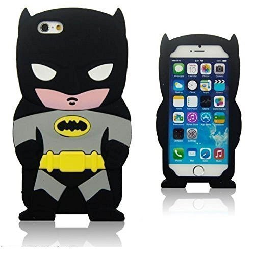 Black 3d Cartoon Hero Batman Soft Silicone Back Skin for Iphone 5s Samsung Galaxy S3 I9300 S4 I9500 S5 I9600 (Case Cover For Ipod Touch 5 (5.5''))