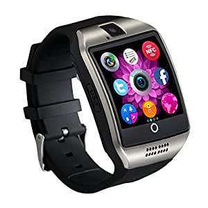 Maxwest Nitro 5 Compatible Certified Bluetooth Smart Watch GT08 Wrist Watch Phone with Camera & SIM Card Support Hot Fashion New Arrival Best Selling Premium Quality Lowest Price with Apps like Facebook, Whatsapp, QQ, WeChat, Twitter, Time Schedule, Read Message or News, Sports, Health, Pedometer, Sedentary Remind & Sleep Monitoring, Better Display, Loud Speaker, Microphone, Touch Screen, Multi-Language, Compatible with Android iOS Mobile Tablet PC iPhone-SILVER BY MOBIMINT