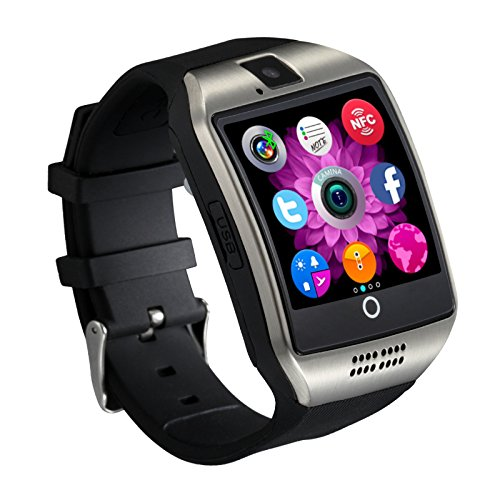 Samsung Galaxy Grand Neo (GT-I9060)Compatible Certified Bluetooth Smart Watch GT08 Wrist Watch Phone with Camera & SIM Card Support Hot Fashion New Arrival Best Selling Premium Quality Lowest Price with Apps like Facebook, Whatsapp, QQ, WeChat, Twitter, Time Schedule, Read Message or News, Sports, Health, Pedometer, Sedentary Remind & Sleep Monitoring, Better Display, Loud Speaker, Microphone, Touch Screen, Multi-Language, Compatible with Android iOS Mobile Tablet PC iPhone-SILVER BY MOBIMINT  available at amazon for Rs.2499