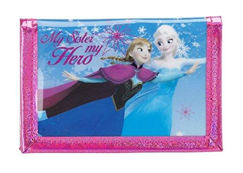 Disney frozen - la regina dei ghiacci, elsa anna olaf, portafoglio da borsa (s036), blu, 13,2 x 10,2 x 1,4 cm