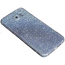Para Samsung Galaxy, FAS1 Online con adhesivo brillo chispeante cuerpo película caso, azul, S6 Edge+ G9280