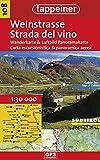 Strada del vino. Carta escursionistica & panoramica aerea 1:25.000. Ediz. italiana e tedesca
