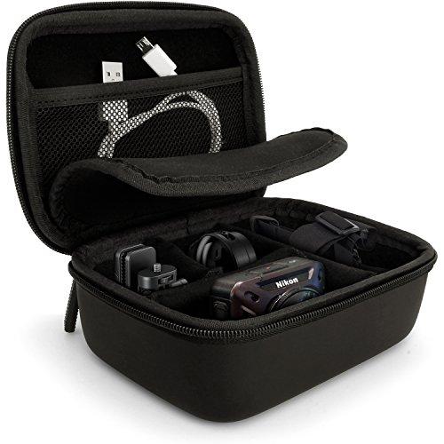 igadgitz Schwarz EVA Tragetasche Hartschale mit Tragegriff für Nikon Action Kameras