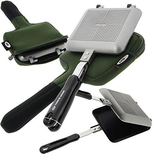Angeln + Camping Kompaktes Maker Toastie mit Grün Neopren Tragetasche