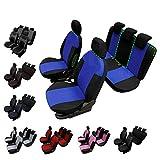 rmg-distribuzione Coprisedili per Classe A Versione (1997-2004) compatibili con sedili con airbag, bracciolo Laterale, sedili Posteriori sdoppiabili Colore Nero Blu R05S0458